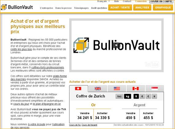 Nos tests et avis sur le site de Bullion Vault