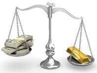 Les cours de l'or et du dollar sont souvent en opposition