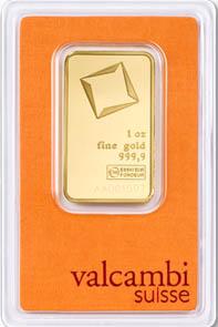 Le Valcambi suisse de 1 once proposé par Or.fr (ex GoldBroker) est l'exemple type d'un investissement d'entrée de gamme