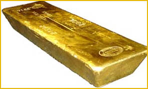 Une barre d'or de 400 onces du broker Bullion Vault